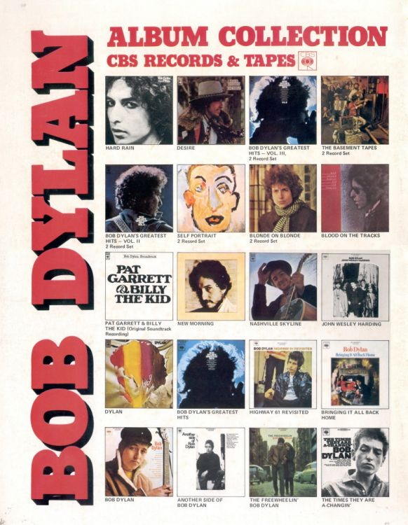 Bob Dylan 1978 world tour Programme japan back