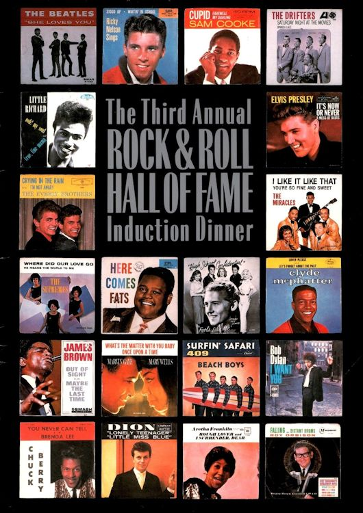 Third Annual ROCK & ROLL HALL OF FAME Induction Dinner