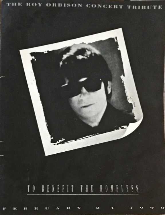 roy orbison tribute 24 february 1990 Bob Dylan Programme
