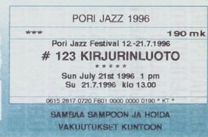 Bob Dylan pori 21 july 1996 ticket