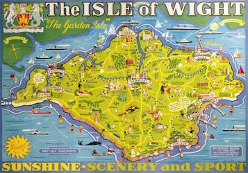 The Isle of Wight postcard