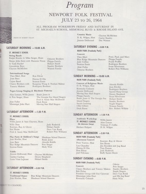 newport 1964 programme inner page 5