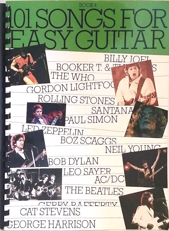 101 songs for easy guitar songbook