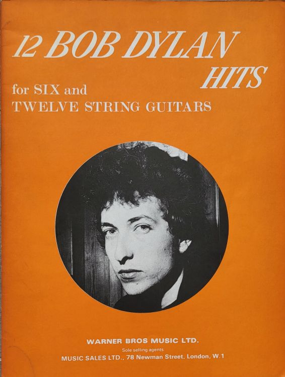 bob dylan for six and twelve string guitar Warner Bros.-Music Sales songbook