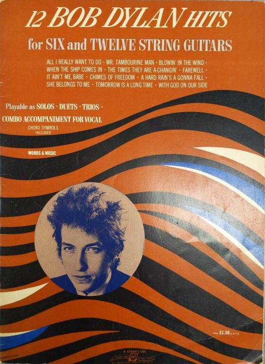 12 songs for 6 and 12 strings guitar bob dylan songbook