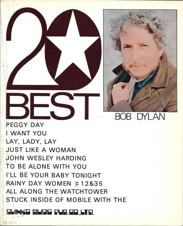 BOB DYLAN: 20 BEST, Japan songbook