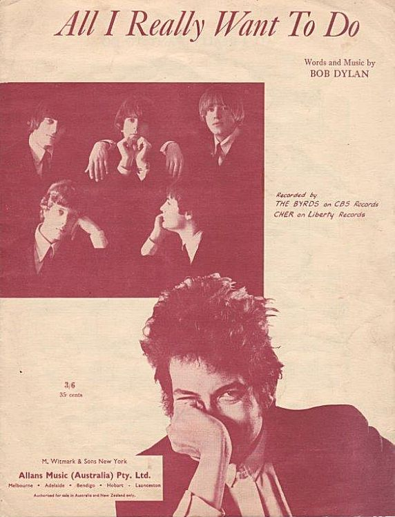 bob dylan all i really wanna do australia sheet music