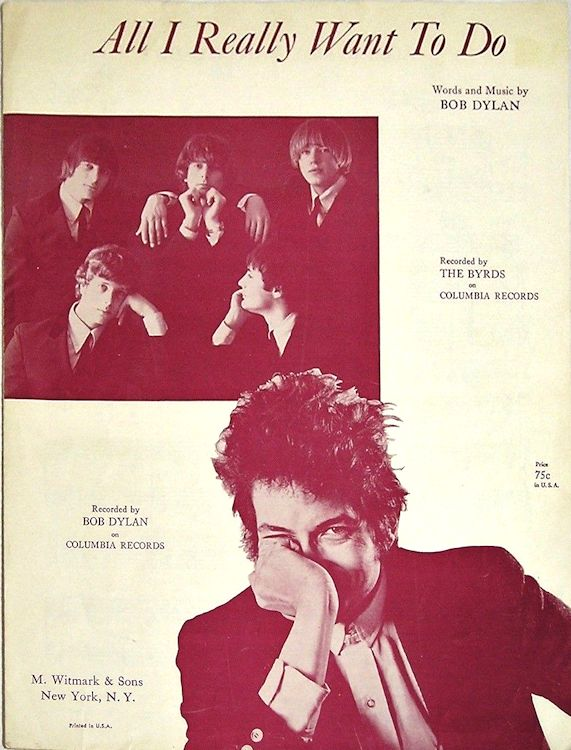 bob dylan all i really wanna do witmatk  & sons sheet music