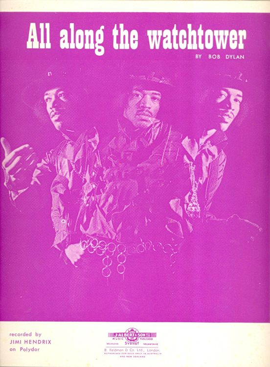 bob dylan all along the watchtower hendrix sheet music