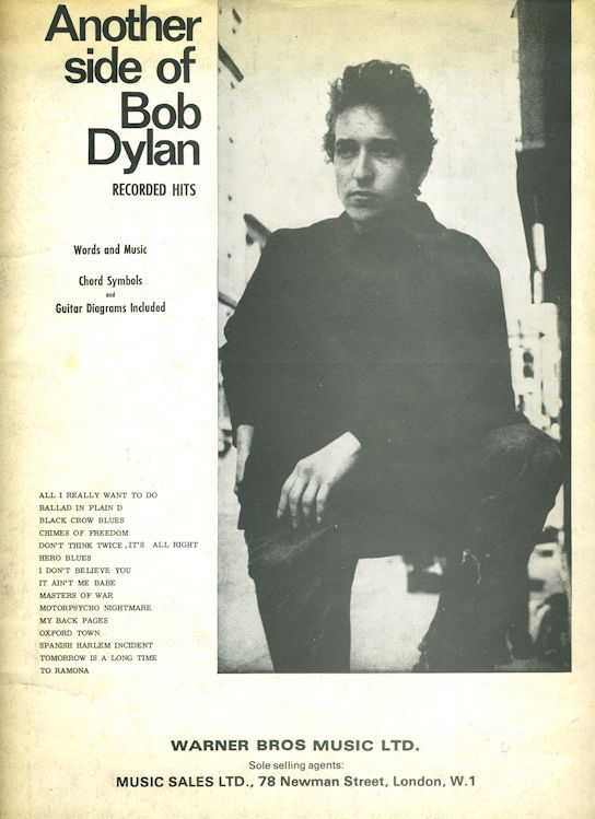 Another Side Of bob dylan warner uk songbook