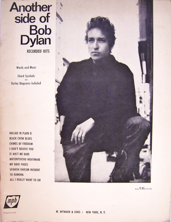 Another Side Of bob dylan songbook the album tracks less I Shall Be Free No. 10