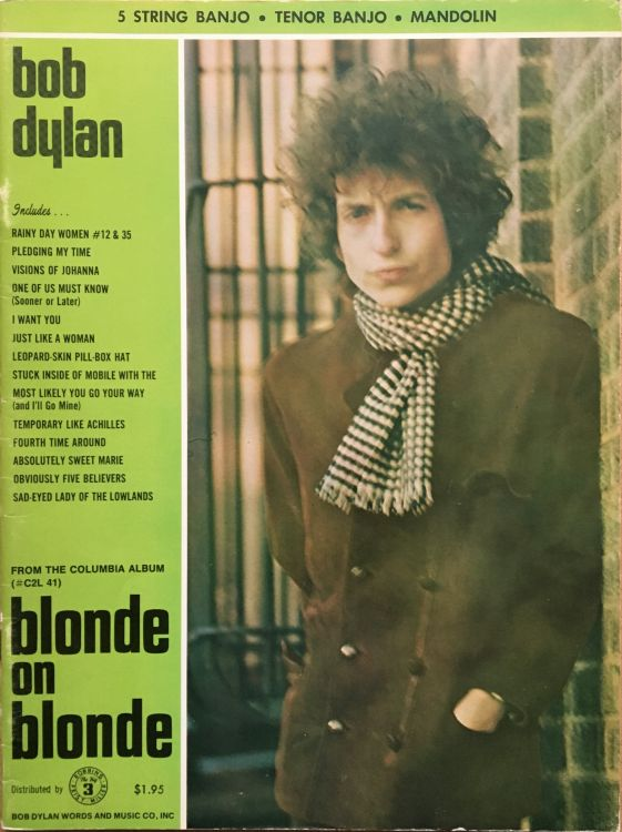 bob dylan blonde on blonde 5 String Banjo, Tenor Banjo, Mandolin songbook