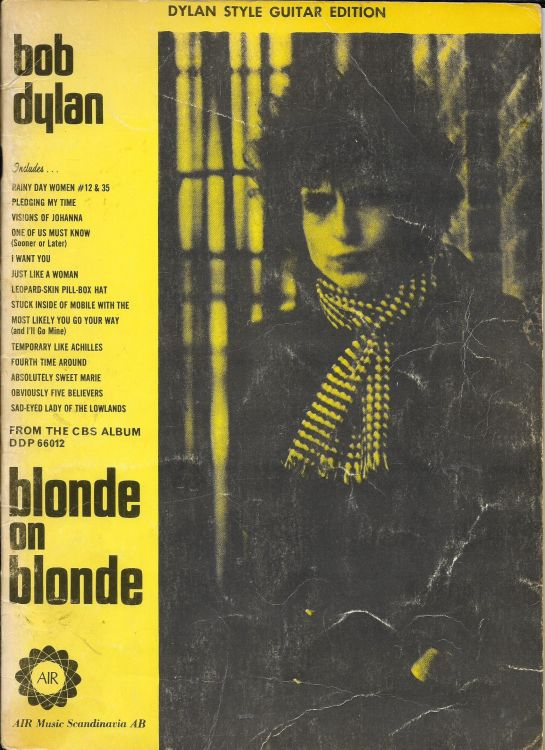 bob dylan blonde on blonde songbook