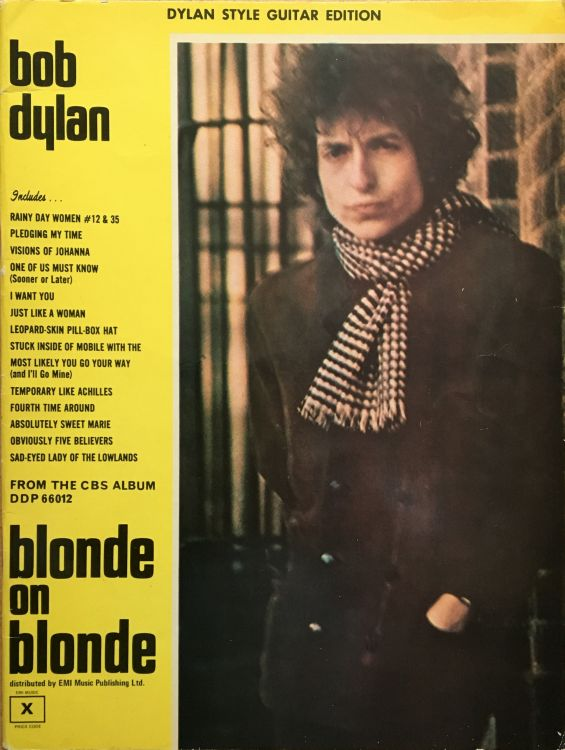 bob dylan blonde on blonde EMI Music Publishing Ltd. UK songbook