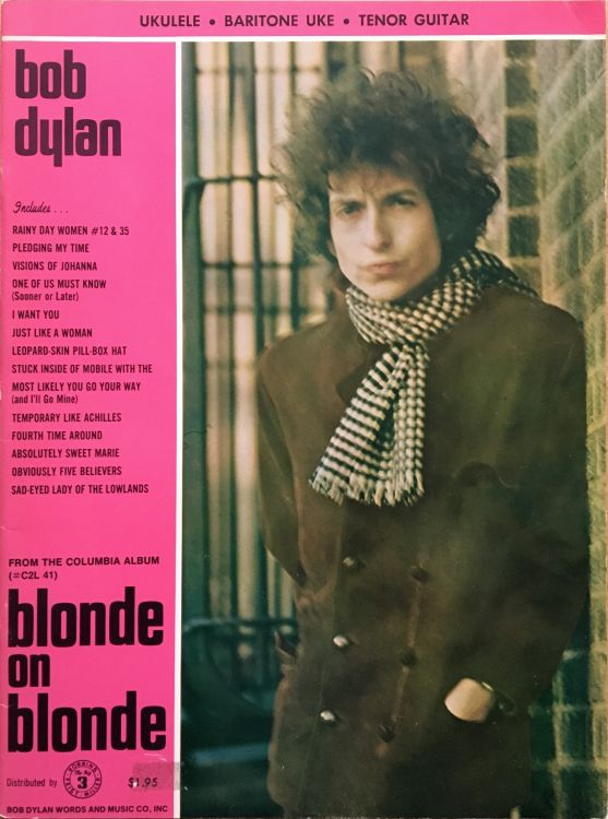bob dylan blonde on blonde Ukulele, Baritone Uke, Tenor Guitar songbook