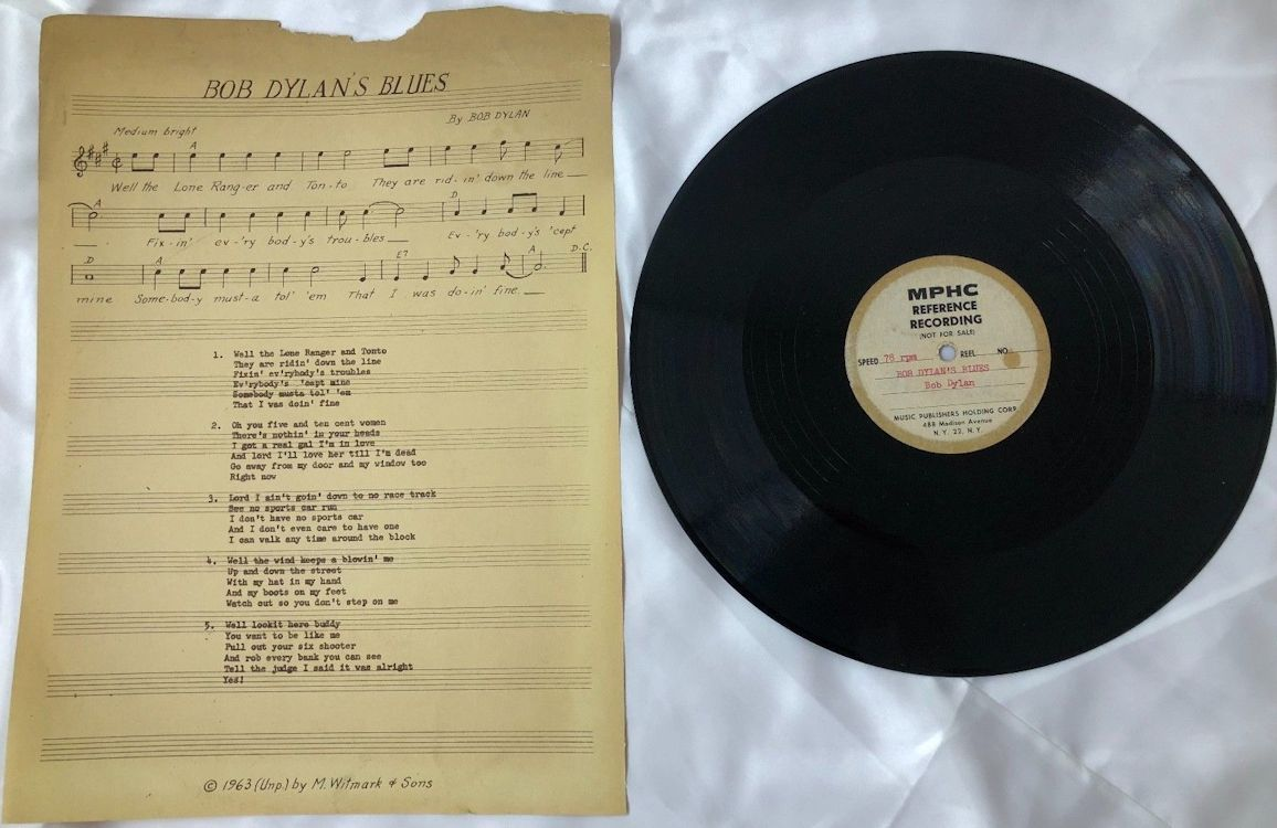 bob dylan's blues acetate sheet music
