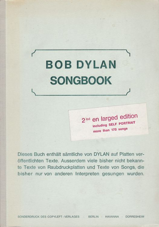 bob dylan songbook germany