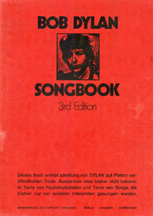 bob dylan songbook germany 3rd edition
