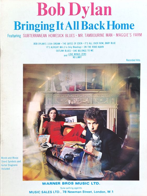 bob dylan bringing it all back home Warner Bros. Music Ltd songbook