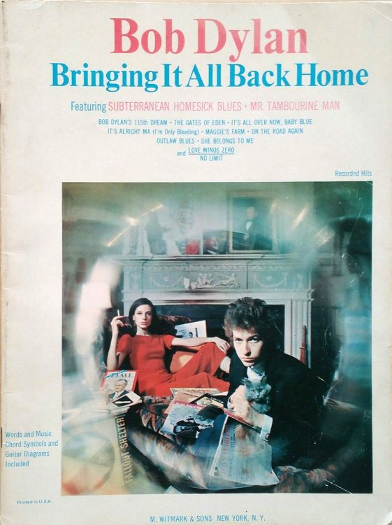 bob dylan bringing it all back home songbook