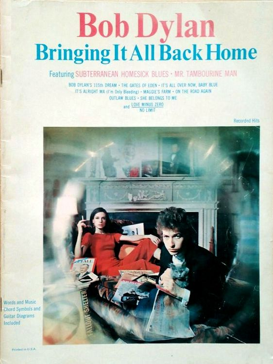 bob dylan bringing it all back home twk 22016-39 songbook
