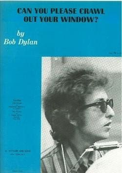 bob dylan can you please crawl out your windows sheet music