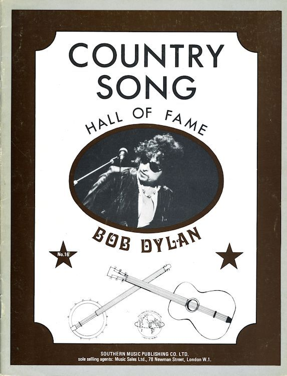 bob dylan Country Song Hall Of fame songbook