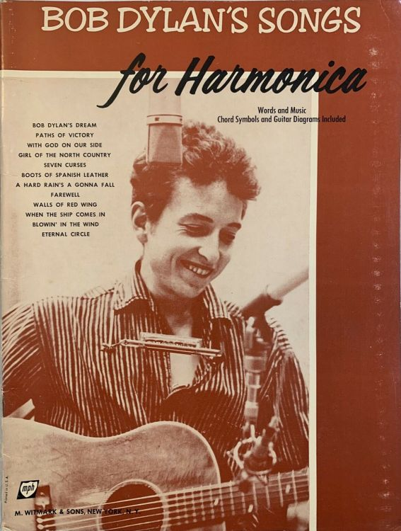 bob dylan's Songs For Harmonica by Jerry Sears witmark songbook