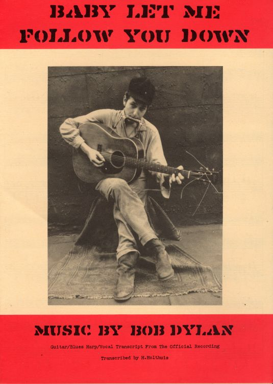 bob dylan baby let me follow you down exact sheet music