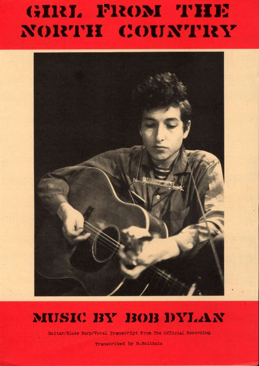 bob dylan girl from the north country exact & accurate sheet music