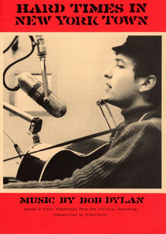 bob dylan hard times in new york town exact & accurate sheet music