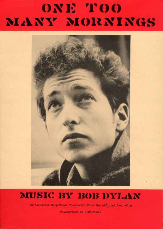 bob dylan one too many morning exact & accurate sheet music