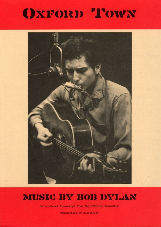 bob dylan oxford town sheet music