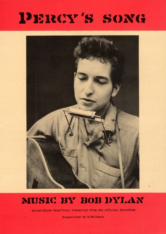 bob dylan percy's song exact & accurate sheet music
