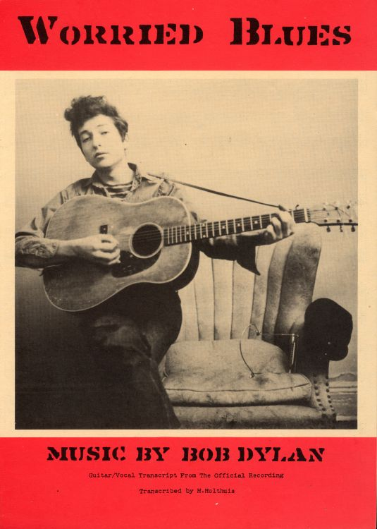 bob dylan worried blues exact & accurate sheet music