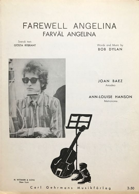 sheet music farewell angelina swedish