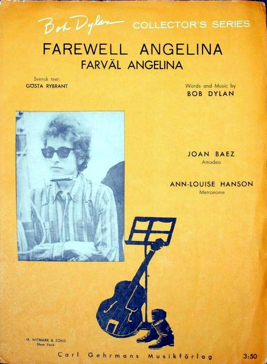 bob dylan farewell angelina sweden sheet music