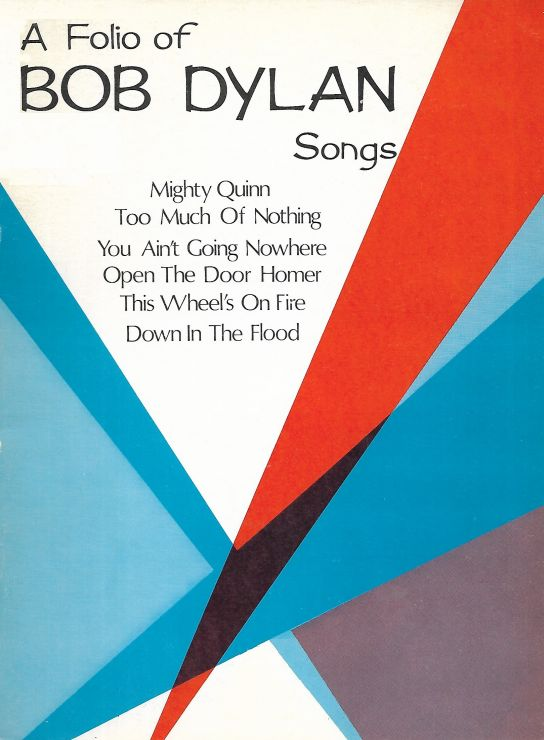 bob dylan A Folio of Songs songbook no price on cover