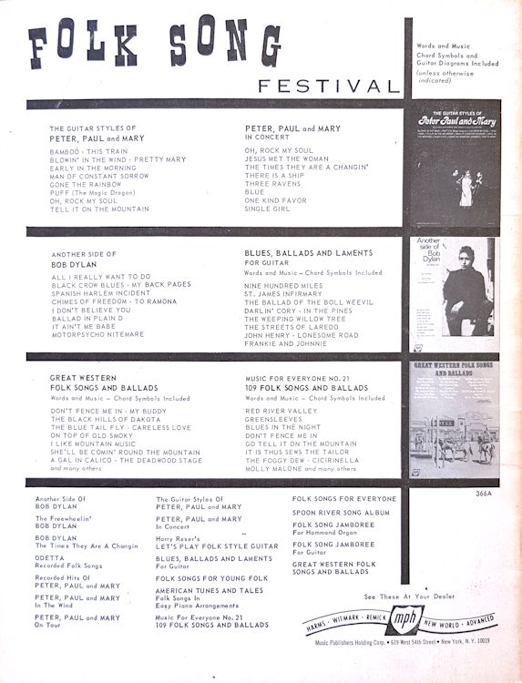 Bob Dylan Freewheelin' Songbooks