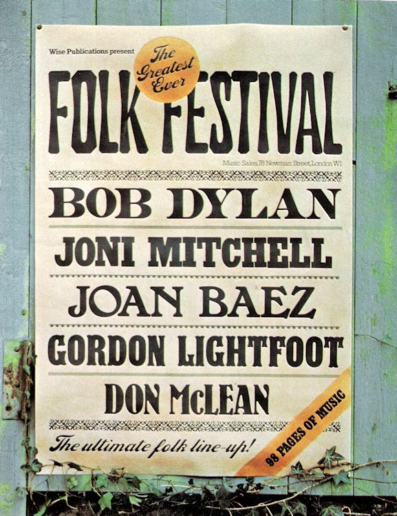 bob dylan The Greatest Ever Folk Festival songbook