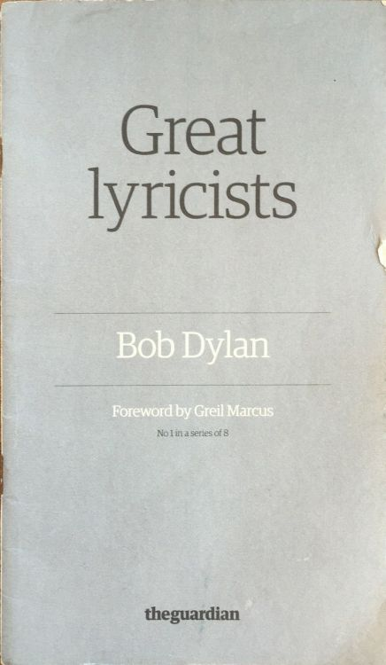 bob dylan The Guardian songbook