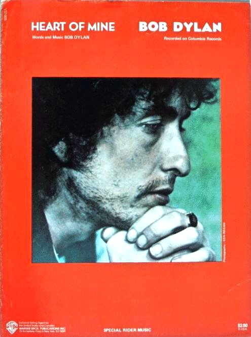 bob dylan heart of mine sheet music