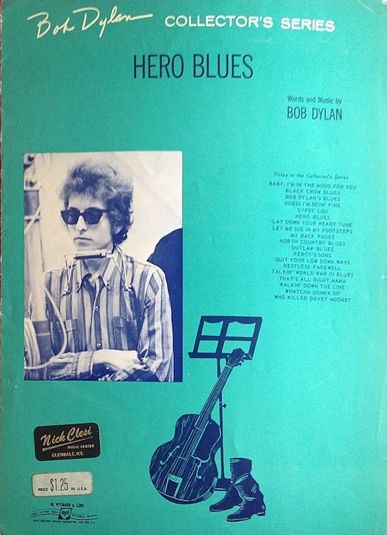 bob dylan hero blues sheet music