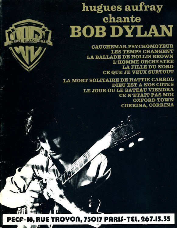 aufray chante dylan second cover songbook