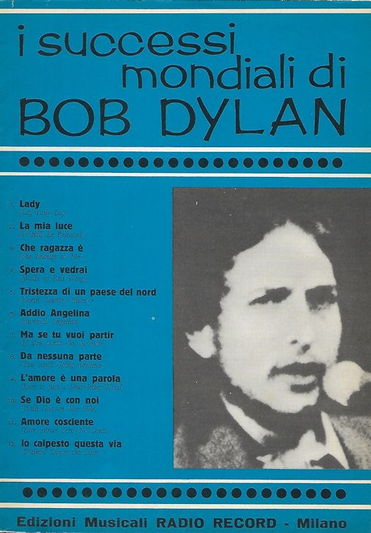 I Successi Mondiali di bob dylan 1970 20 pages songbook