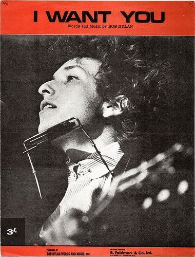 bob dylan i want you sheet music