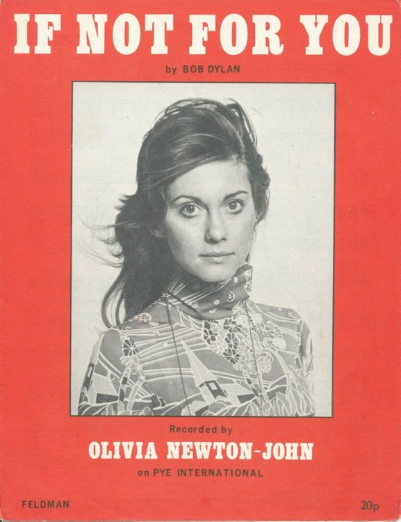Bob Dylan If not for you Olivia Newton John, Feldman sheet music