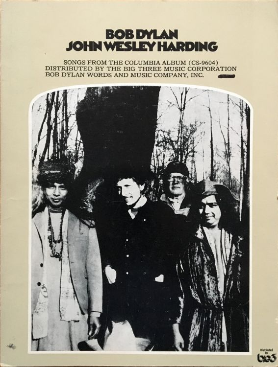 bob dylan John Wesley Harding Big3, USA, 40 pages songbook