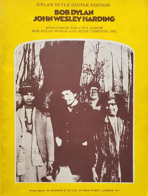 bob dylan John Wesley Harding Dylan Style Guitar edition songbook