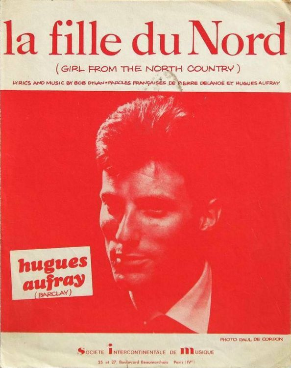 la fille du nord hugues aufray sheet music